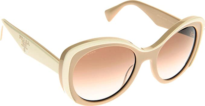 Amazon.com: Prada 38770 kaw0 a6 Blanco 12PS Ronda anteojos ...