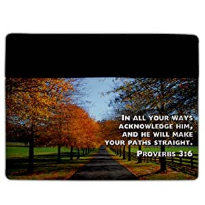 iPad 2 & 3 Cover - Christian Theme - Proverbs 3:6 - Protective Leather and Suede Case