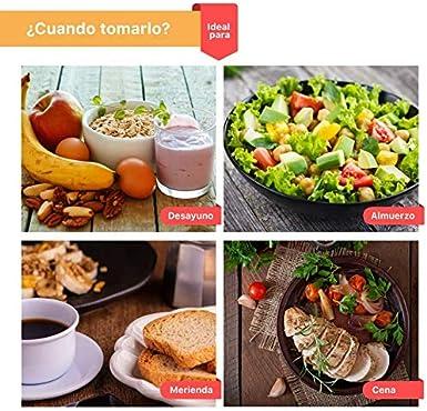 Batidos para Adelgazar sustitutivos de comida con proteínas Dieta quema grasas + colágeno/Batido de pérdida de peso completo saciante. Quemador de ...