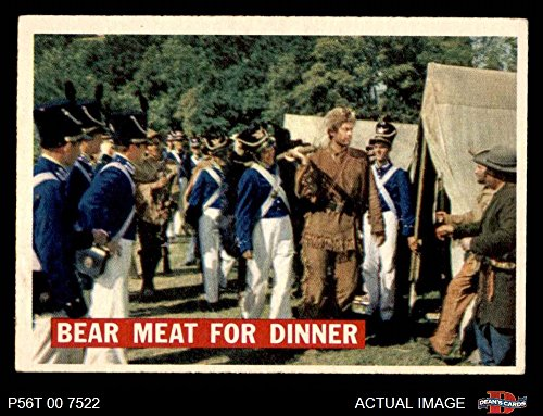1956 Topps Davy Crockett Orange Back # 5 Bear Meat For Dinner (Card) Dean's Cards 6 - EX/MT 2421657