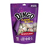 Dingo Bacon Flavored Mini Blasts Bones for All Dogs, 12-Count