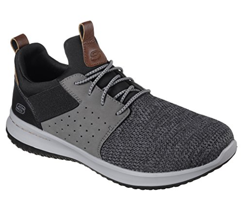 Skechers Men's Classic Fit-Delson-Camden Sneaker,black/Grey,11 M US by Skechers (Image #8)