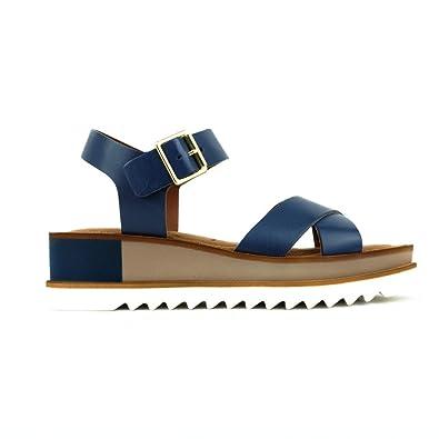 Tamaris , Damen Sandalen blau navy: : Schuhe