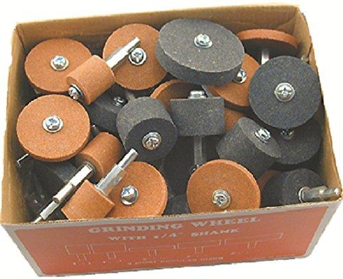 Enkay 220 Grinding Stones, 1/4-Inch Shank, 50-Piece