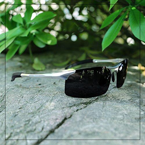 deportivas sol polarizadas Gafas Grey UV400 Duco para metal Silver con y de 8177S Lenses irrompible marco hombre Frame 100 ultraligero de wxtIFFdqHE