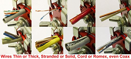 Handheld Copper Wire Stripper Tool using Stock Blade, Cable Stripping Machine for...