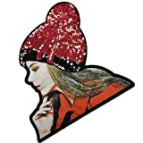Zerama Shiny Sequin Clothes Patches Women Clothing Applique Girls Pattern Costume Paste Accessories