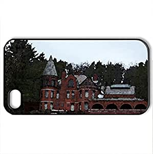 Wilson Castle in Proctor, Vermont - Case Cover for iPhone 4 and 4s (Watercolor style, Black)