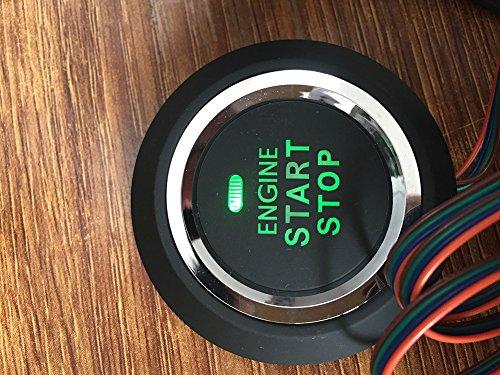 EASYGUARD EC002 Smart Key RFID PKE Car Alarm System Passive Keyless Entry Remote Engine Start Starter Push Start Button Touch Password Entry Hopping Code