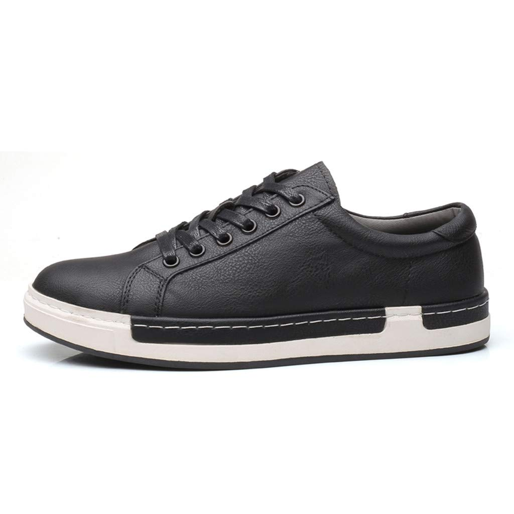 Leather Shoes Male Business Fashion Casual Solid Shoes,2019 New Mens Lace Up Oxfords Shoes