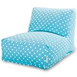 Majestic Home Goods Aquamarine Small Polka Dot Bean Bag Chair Lounger by Majestic Home Goods
