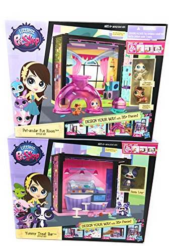 Rumble In The Jungle Costumes (Girl Toys Bundle Toys Littlest Pet Shop Pet -acular Fun Room and Yummy Treat Bar style set (Chomper McConnell, Hamilton Rumble and Penny Ling ))