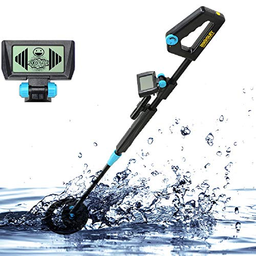 (ALLOSUN TS20B Junior Metal Detector with Waterproof, Black)