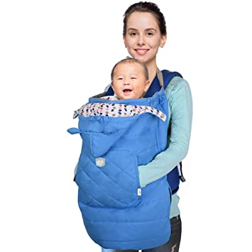 ACEDA Mochila Portabebés con Capucha Mantas Térmica para Bebés Mantas para Carro Bebés Delantal Infantiles Saco de Dormir Invierno,0-36 Meses,Azul: ...