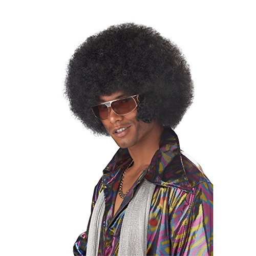 California Costumes Men's Afro Chops Wig,Black,One -