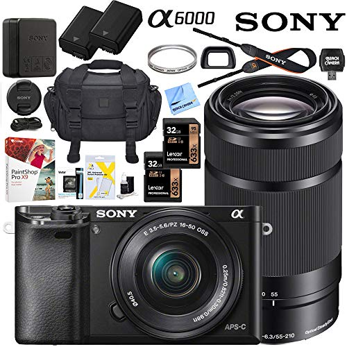 Sony Alpha a6000 Mirrorless Digital Camera with 16-50mm & 55