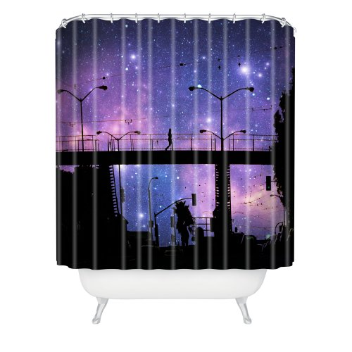 DENY Designs Shannon Clark Night Walk Shower Curtain  69  x 72. Walk in Shower Liner Curtain  Amazon com