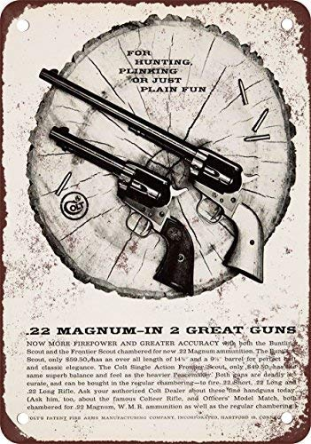 IUOU 1959 Colt Buntline Scout and Frontier Scout Vintage Look Reproduction Metal Tin Sign 12X18 inches