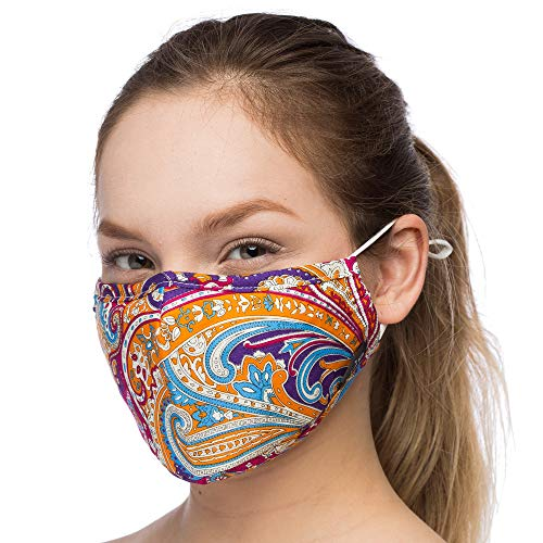Anti Dust Face Mouth Cover Mask Respirator - Dustproof Anti-bacterial Washable - Reusable masks Respirator Comfy - Cotton Germ Protective Breath Healthy Safety Warm Windproof Mask (Orange-Mix2)