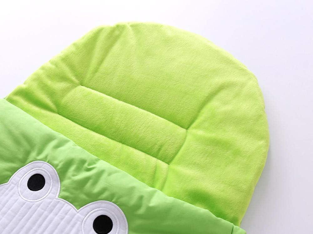 100/% Cotone Sacco A Pelo Per Bambini 0-18 Mesi Anti Kick Kick Cartone Animato Spesso Aria Condizionata Rana Verde Sacco A Pelo Per Bambini Coperta Multifunzionale Swaddle