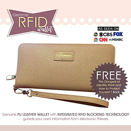 Strap Removable �C Women's Wallet Slot Wrist Card GEMME Blocking Nude RFID 16 �C g6xBXq0