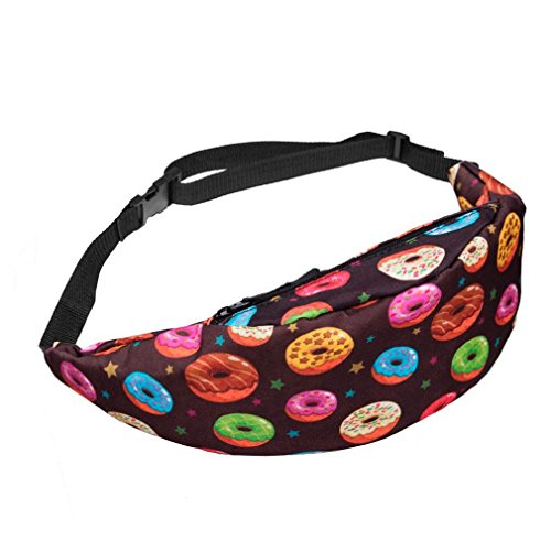 Morecome Fashion Sports Hiking Running Belt Waist Bag Pouch Zip Fanny Pack (Multicolor1)