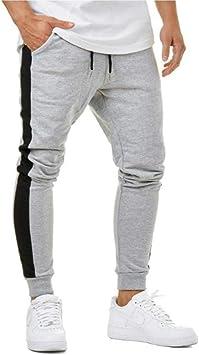 Feidaeu Hombres Fitness Joggers Pantalones para Correr Piel ...
