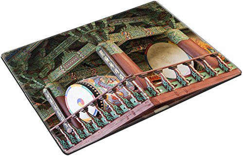 MSD Place Mat Non-Slip Natural Rubber Desk Pads design: 13511443 Two of the huge drums at the Bongeunsa Buddhist Temple in Seoul South Korea The drums are kept in a build Seoul Korea Temple