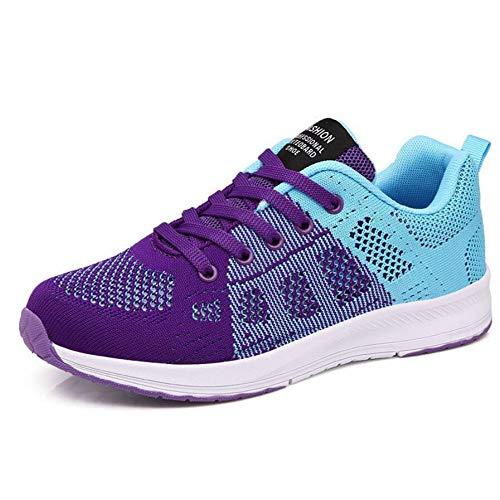 GUNAINDMX Dama Adolescentes Mujeres Zapatos Casuales de Moda Femenina Zapatos de Malla de Malla Transpirable s8
