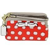 Coach Poppy Mini Dot Double Zip Wristlet Purse Wallet ~ 50166, Bags Central