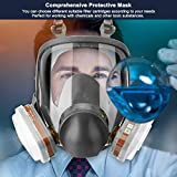 JOEAIS 15in1 Full Face Large Size Respirator,Full