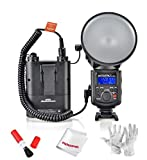 GODOX Witstro AD-180 180W External Portable Flash Light Speedlite with PB960 4500mAh Lithium Battery Pack and Pergear Clean Kit