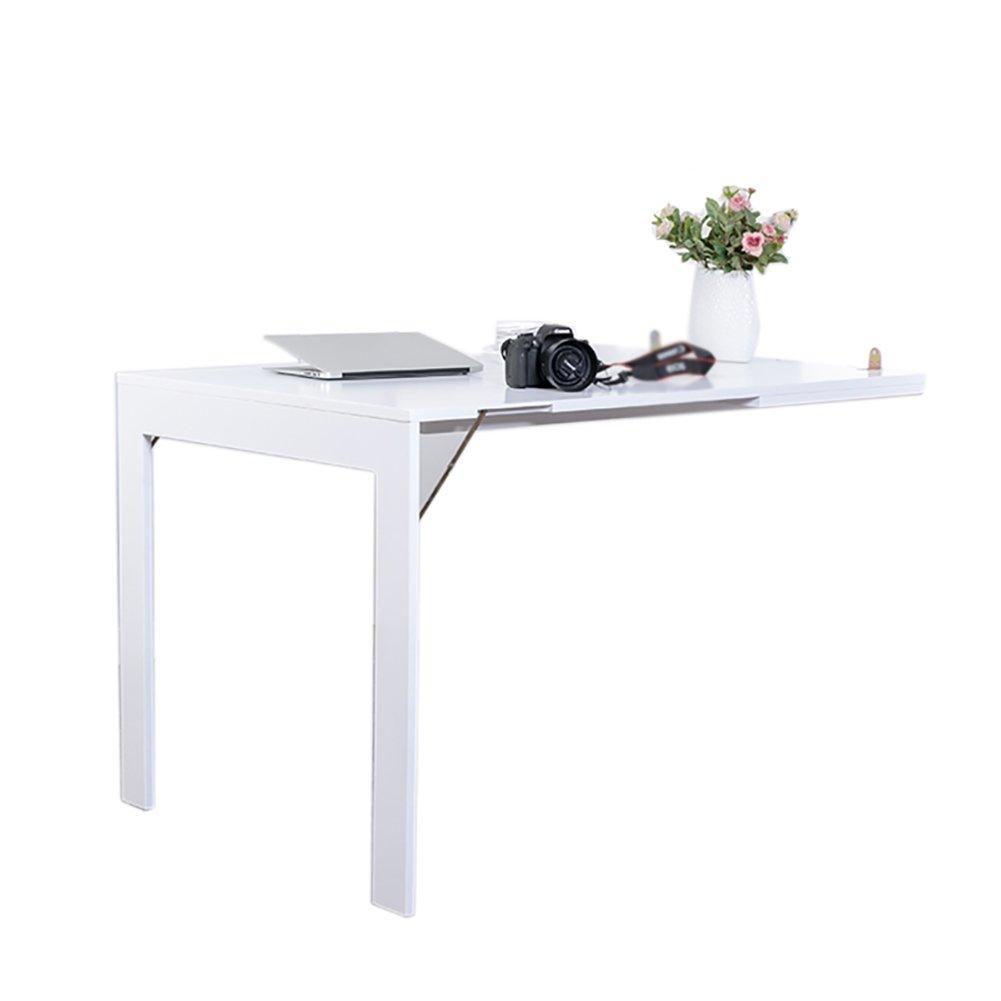 折り畳みテーブル& 壁掛け折り畳み式ダイニングテーブル小型伸縮式家庭用多機能壁テーブル (色 : 白, サイズ さいず : 75*45cm) B07F1B3FWC  白 75*45cm