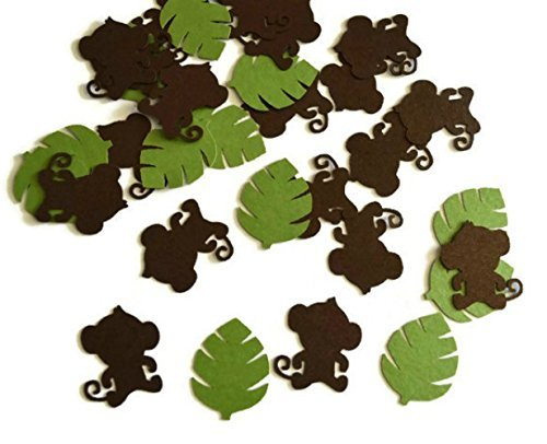 Monkey and Jungle Leaf Party Confetti - 100 Pieces