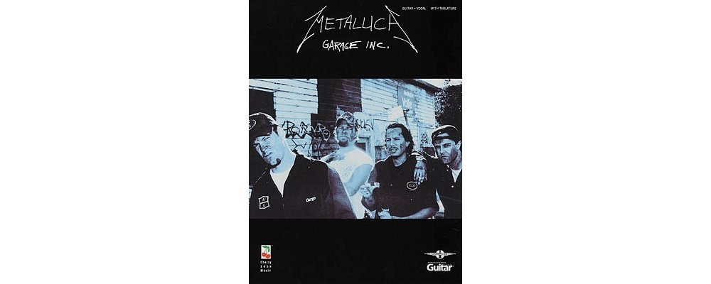 Amazon Hal Leonard Metallica Garage Inc Guitar Tab Book