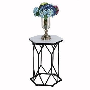 Cb AODISHA Beistelltische Eisen Couchtisch, Glas Marmor Kleine Geometrische  Tabelle Kreative Möbel