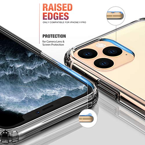 Mkeke Compatible with iPhone 11 Pro Case, Clear Cases for iPhone 11 Pro 5.8 inch Clear