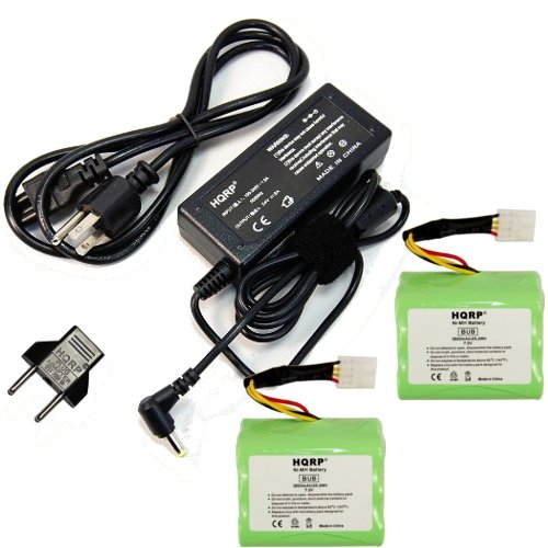 Price comparison product image HQRP Kit Charger + Battery 2-Pack for NEATO XV-11 XV-12 XV-14 XV-15 XV-21 945-0005 205-0001 945-0006 945-0024 910-0087 XV Signature Pro All-Floor Robotic Vacuum AC Adapter + Euro Plug Adapter