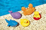 Kids Water Floating Animals Toys Children's Soft Plastic Squeaky Toy Set Of 5