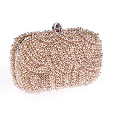 La sac femme Pearl mode White Imitation soir Diamdons du nXpBnZr