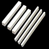 Set of 3 pcs Blank Bone Saddle and 3 pcs Bone Nut Blank for Accoustic Classical Guitar