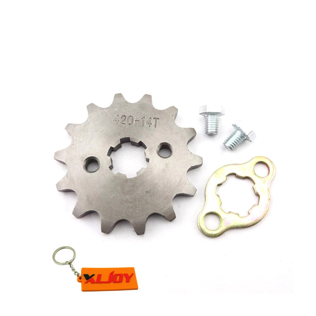 XLJOY 420 14T 17mm Front Chain Sprocket Gear for 50cc 70cc 90cc 110cc 125cc Pit Dirt Bike ATV