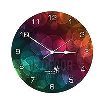 Hoopoe Decor MDF Abstract Trendy Wall Clock (28 cm x 0.8 cm x 28 cm, HDMC-0106)