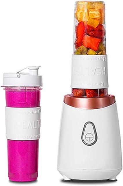 FENG&HE Batidora Portátil, Mini Mixer, Batidora de Vaso, 200 vatios 500 ml Tritan Botella de Agua, Mezcladores Libres de BPA, Batidos de La Tritura: Amazon.es