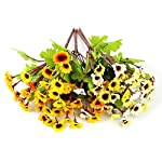 WEWILL-Artificial-Flowers-Pack-of-4-118-Silk-Daisy-Artificial-Gerber-Daisy-for-Home-Decoration-Artificial-Daisy-for-Wedding-Decoration