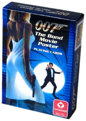 - James Bond Poster Poker Size Playing Cards, Single Deck