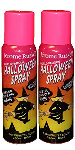 Jerome Russell Temporary Hair Color Spray - PINK - Two Pack - Sprays In -Washes Out 2 x 3.5 fl oz