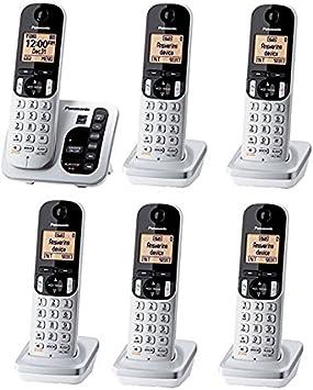 Panasonic kx-tgc226s teléfono inalámbrico DECT 6.0 W/6 Terminales y contestador automático: Amazon.es: Electrónica