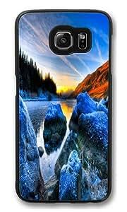 Blue Lake Polycarbonate Hard Case Cover for Samsung S6/Samsung Galaxy S6 Black wangjiang maoyi