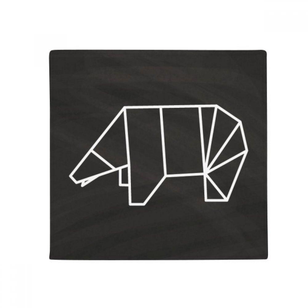 60X60cm DIYthinker Abstract Origami Bear Geometric Shape Anti-Slip Floor Pet Mat Square Bathroom Living Room Kitchen Door 60 50Cm Gift